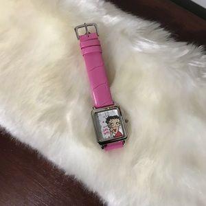 💋 Betty Boop 💕 hot pink Watch